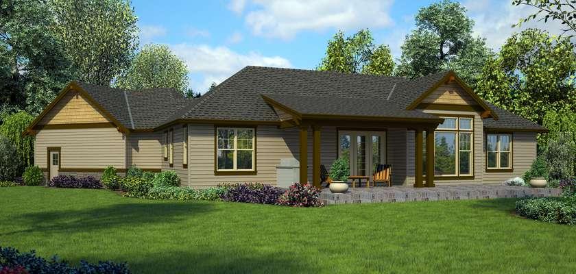 Mascord House Plan 1177B: The Adamsville