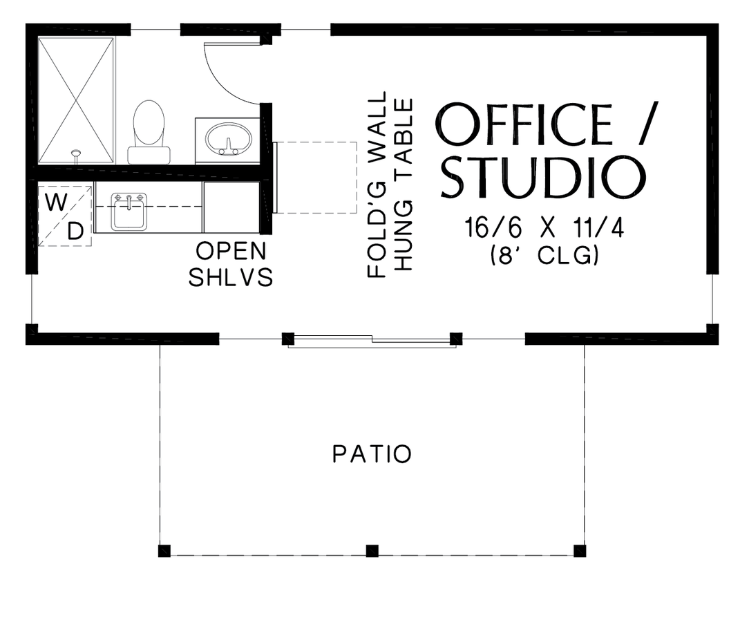 Image for Woodhaven-Efficient Contemporary Guest Suite-Main Floor Plan