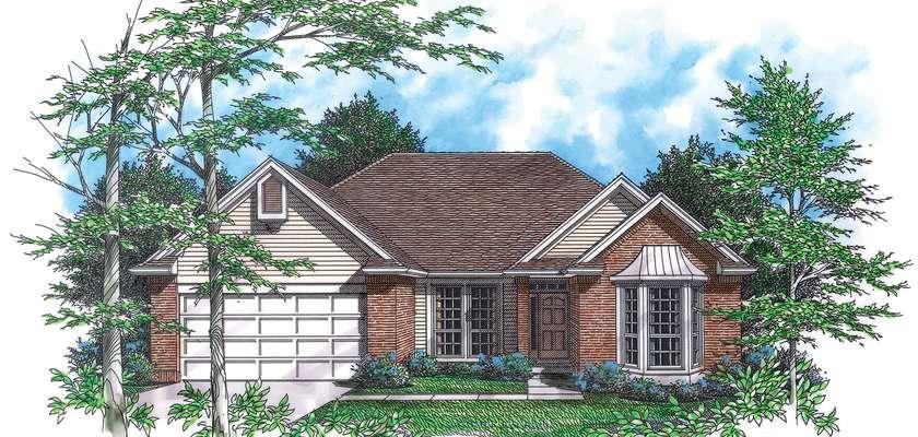 Mascord House Plan 1201: The Alden