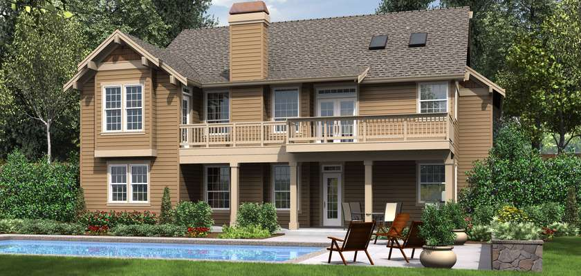 Mascord House Plan 1201J: The Dawson