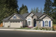 Front Exterior of Mascord House Plan 1201GD - The Arlington