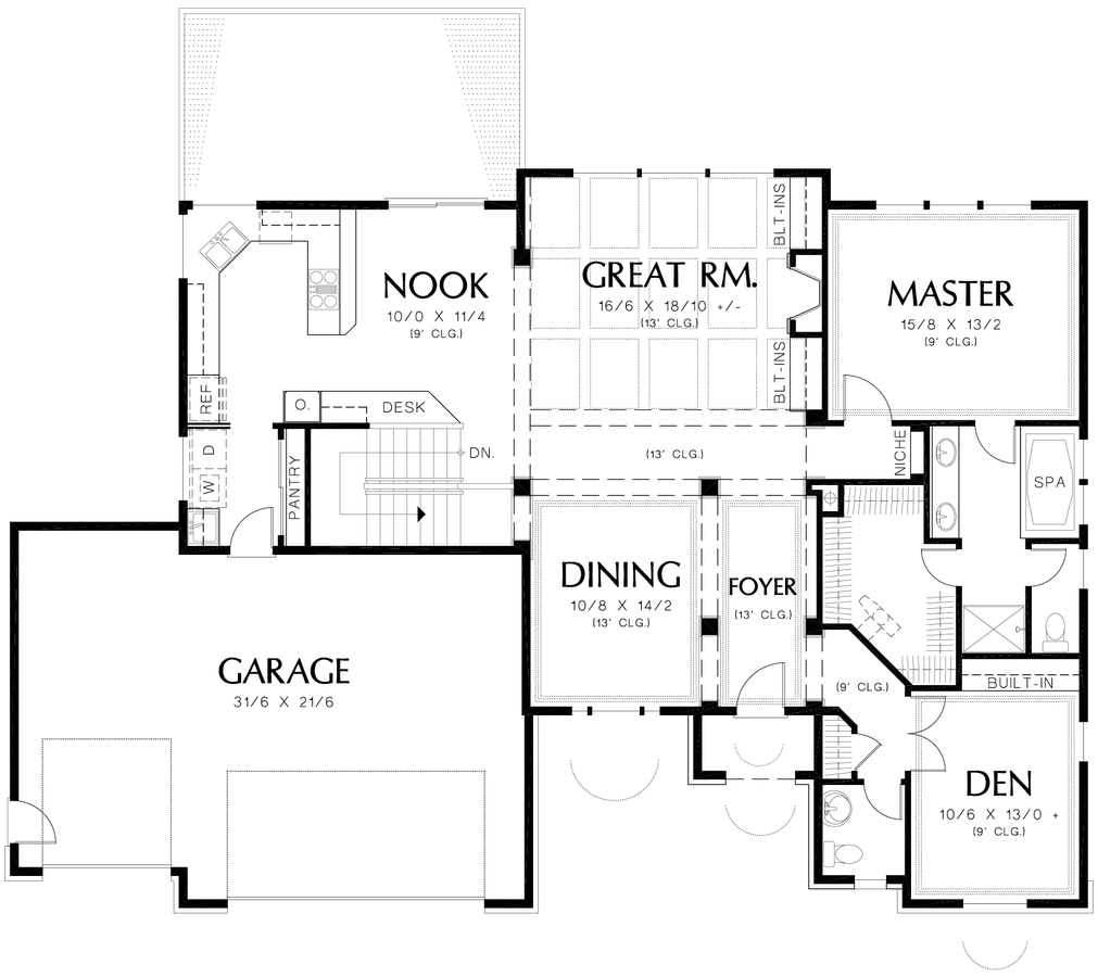 Image for Arlington-European Plan Great for Sloping Lot-Main Floor Plan