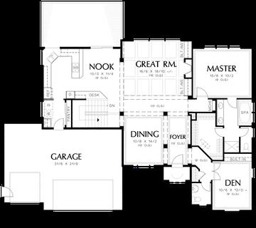 Mascord House Plan 1201gd The Arlington