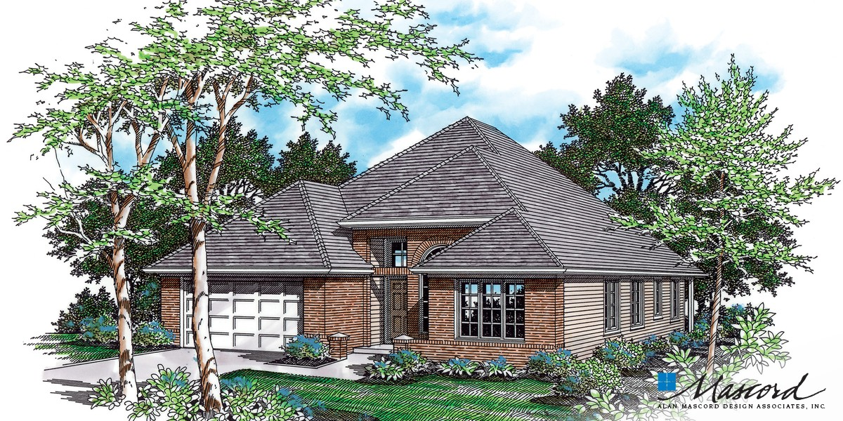 Mascord house plan 1212 the sutherland for Sutherlands house plans