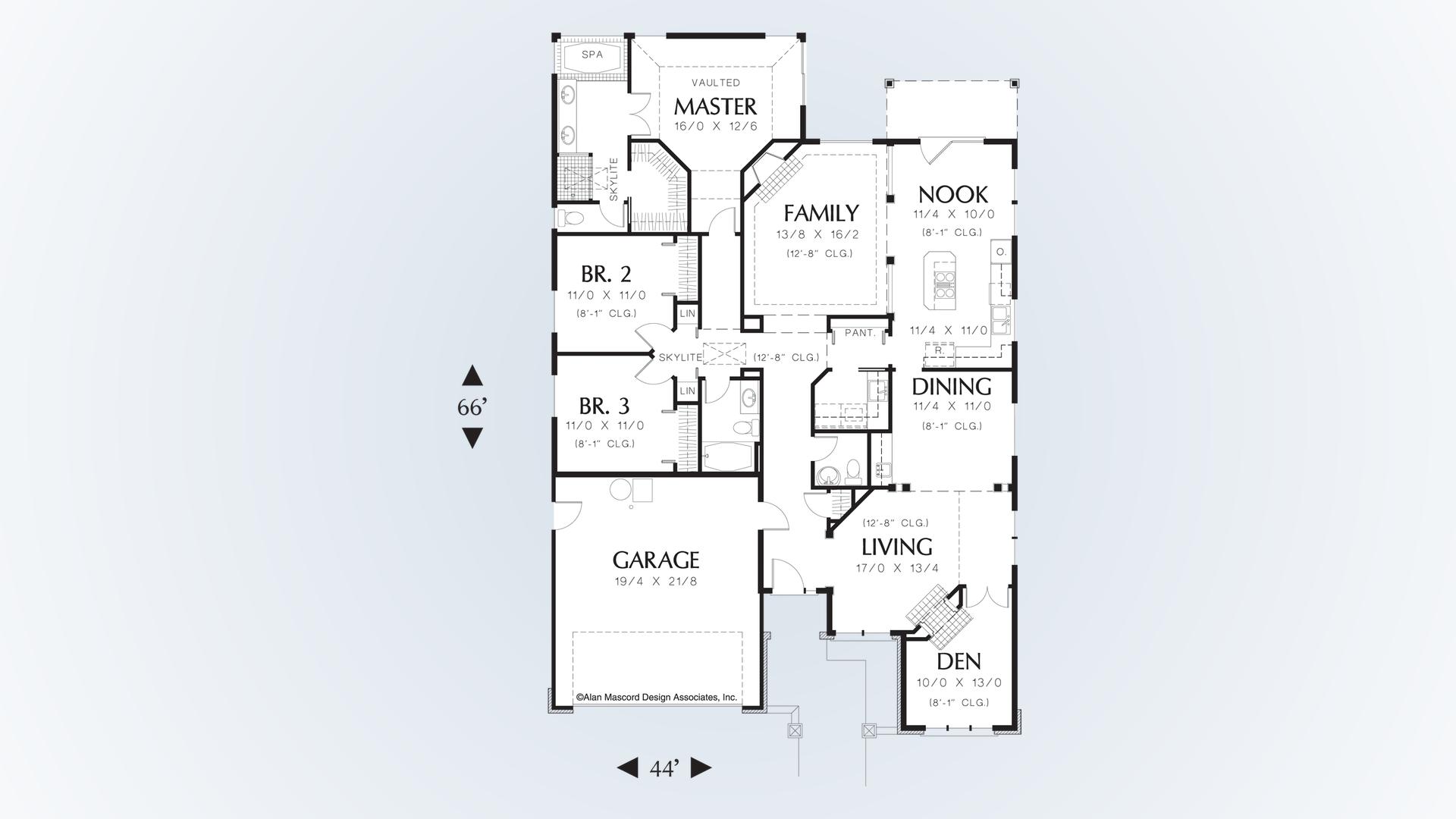Mascord House Plan 1212 - The Sutherland