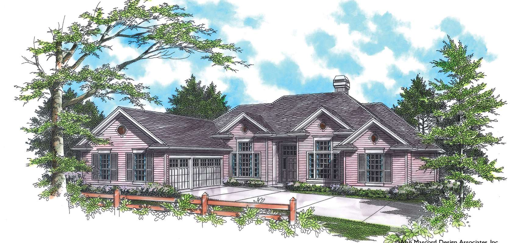 Mascord House Plan B1214: The Ellendale