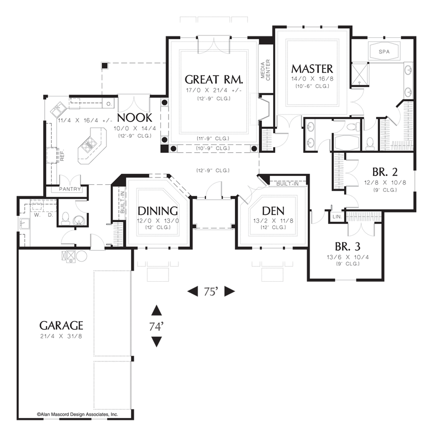 Traditional house plan 1214 the ellendale 2596 sqft 3 for Minnesota house plans