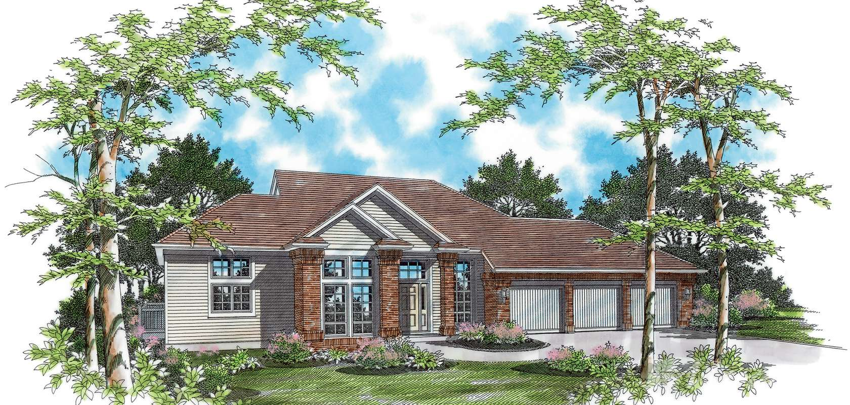 Mascord House Plan 1215: The Earlington