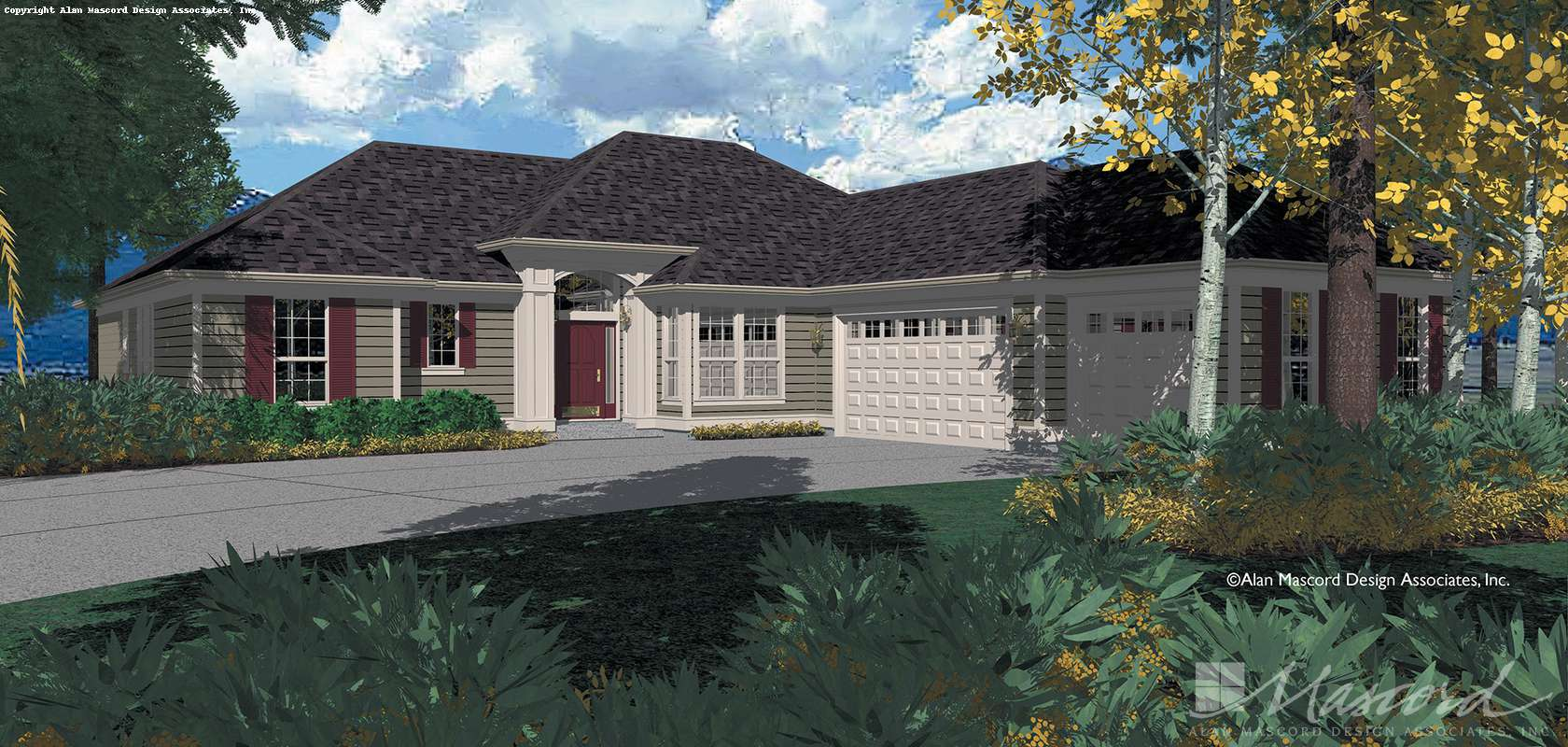 Mascord House Plan 1216: The Shawnee