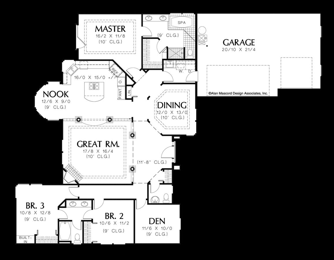 Mascord House Plan 1216 The Shawnee