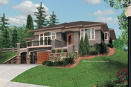 Front Rendering of Mascord House Plan 1220 - The Parkview