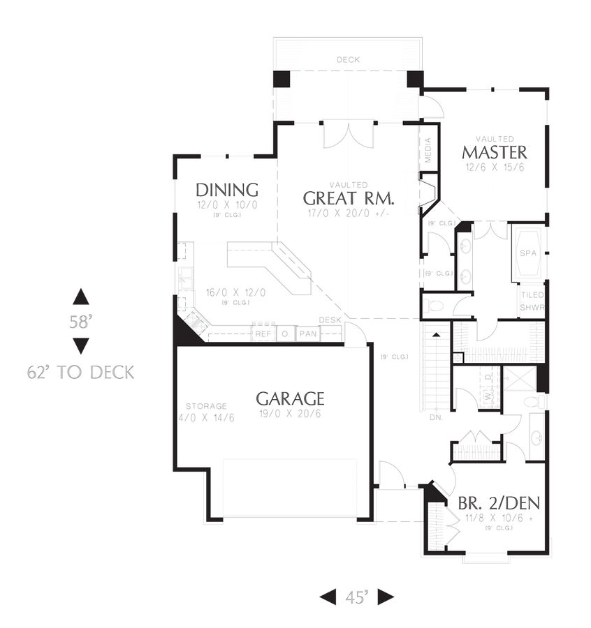 Image for Newmarket-Deceptively Spacious Cottage Plan-Main Floor Plan