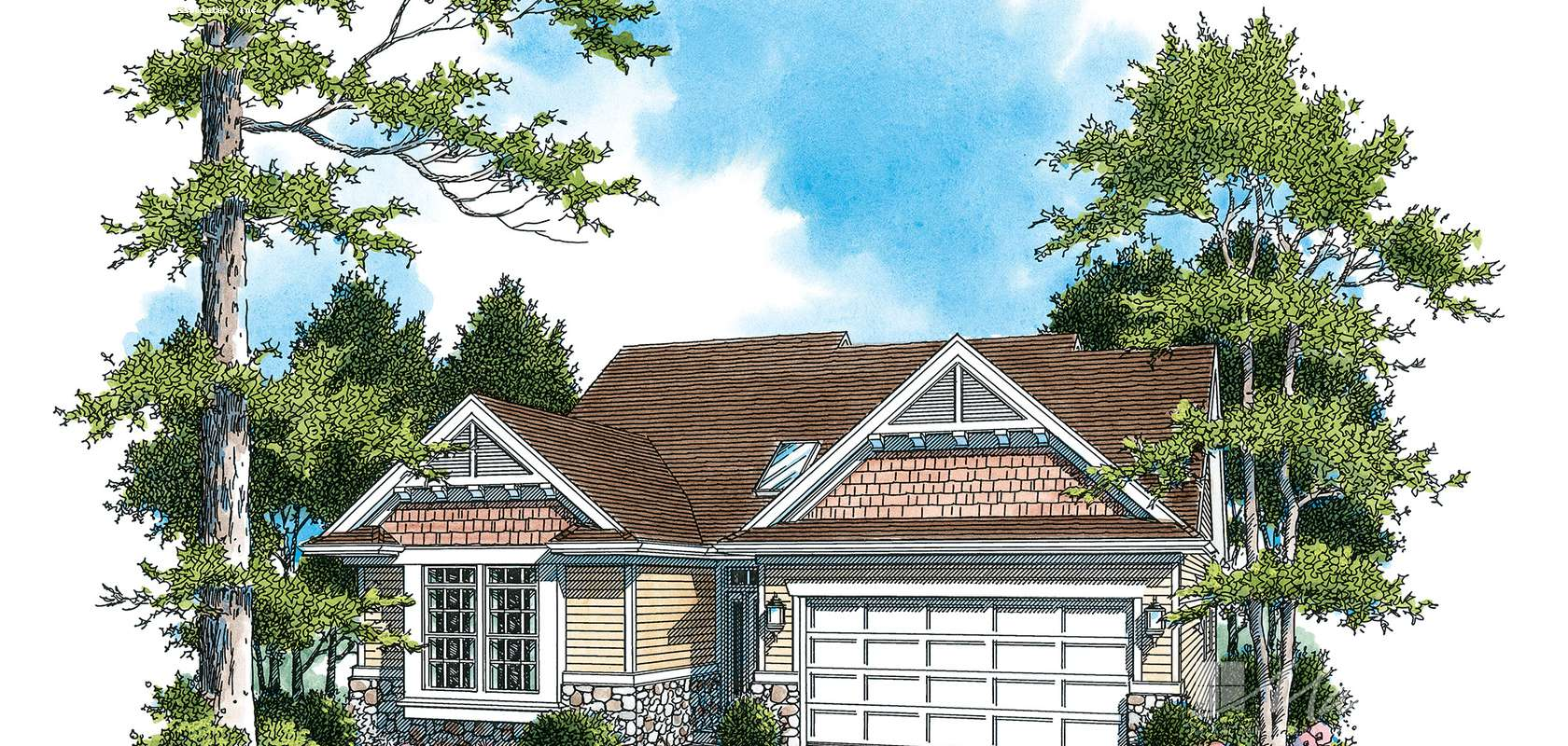 Mascord House Plan 1221B: The Nicole