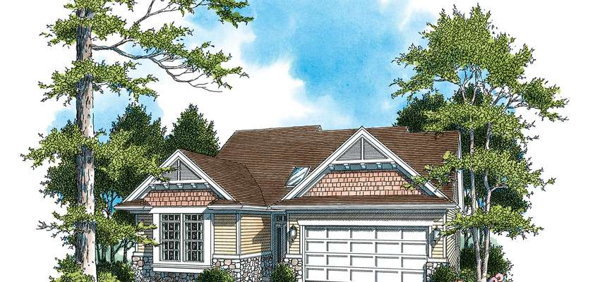 Mascord House Plan 1221B: The Nicole