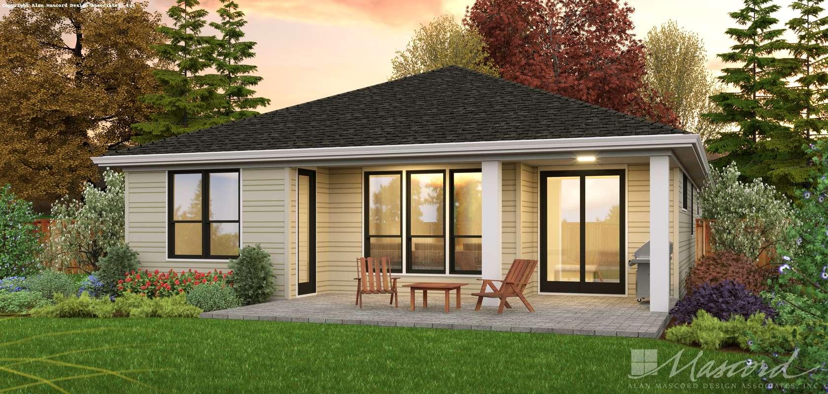 Mascord House Plan 1221E: The Stony Park
