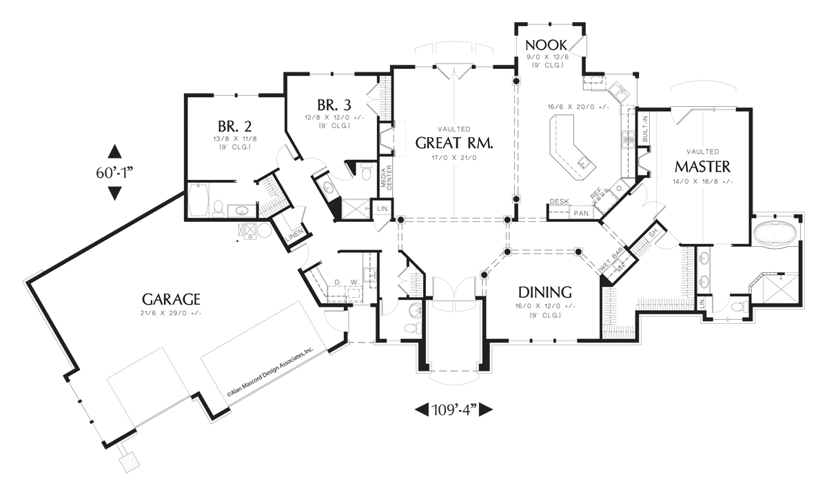 Mascord House Plan 1225 The Hayden