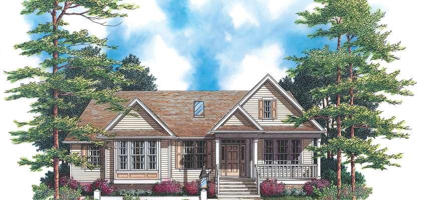 Mascord House Plan 1229: The Milton