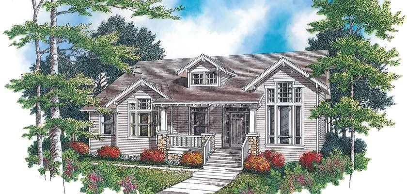 Mascord House Plan 1229A: The Preston