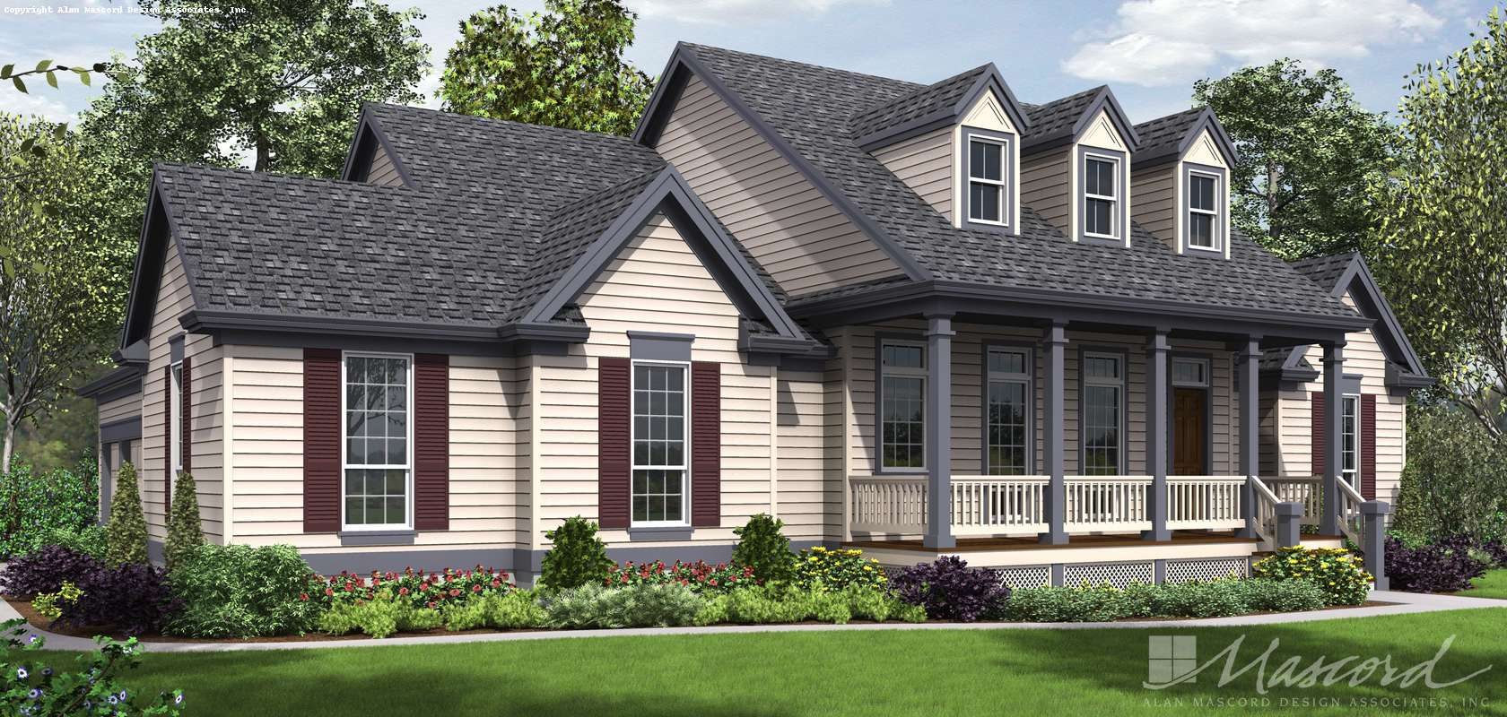 Mascord House Plan B1230: The Renville