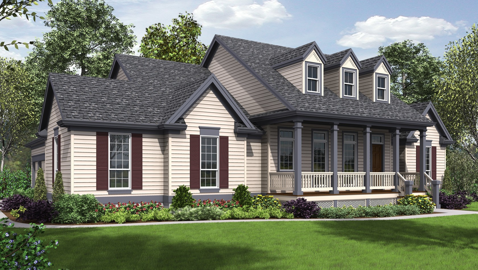Main image for house plan 1230: The Renville