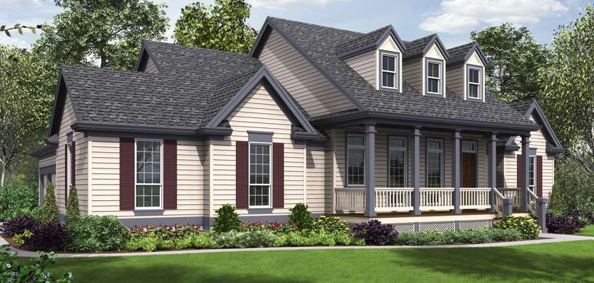 Mascord House Plan 1230: The Renville