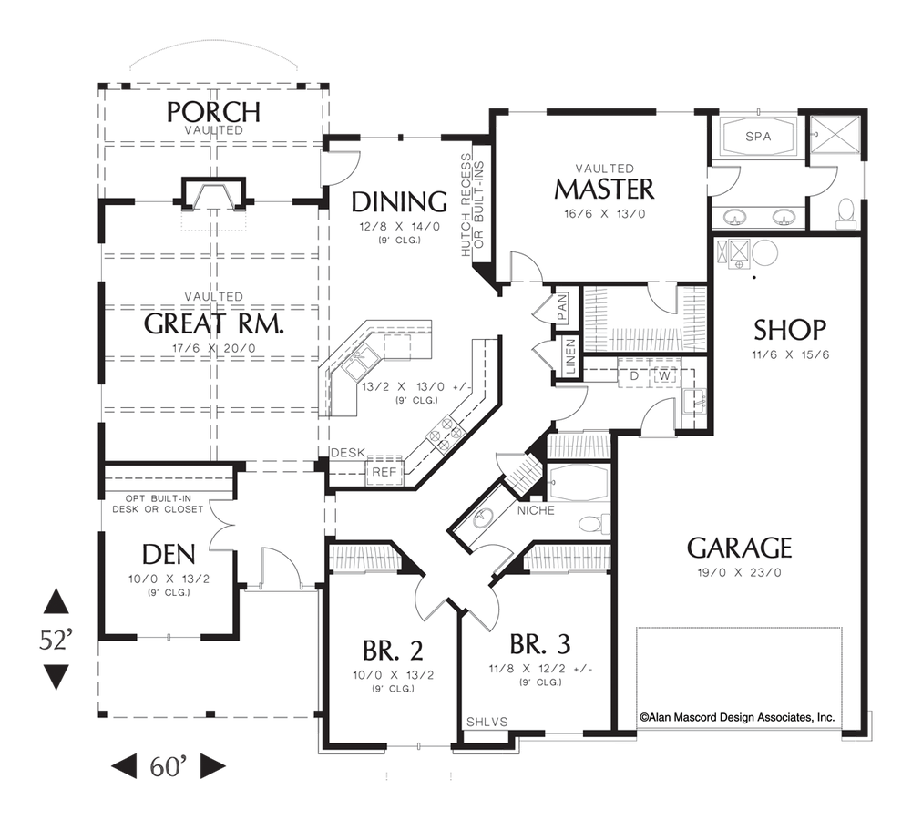 Mascord House Plan 1231a The Blackburn