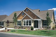 Front Exterior of Mascord House Plan 1231 - The Galen