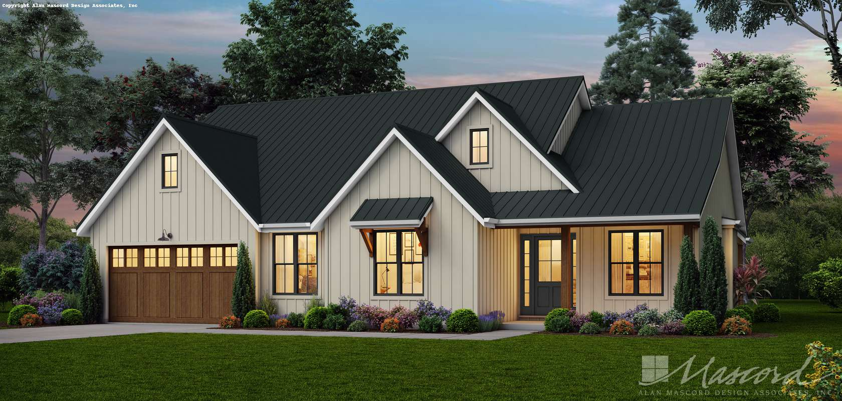 Mascord House Plan 1231EB: The Oakhaven