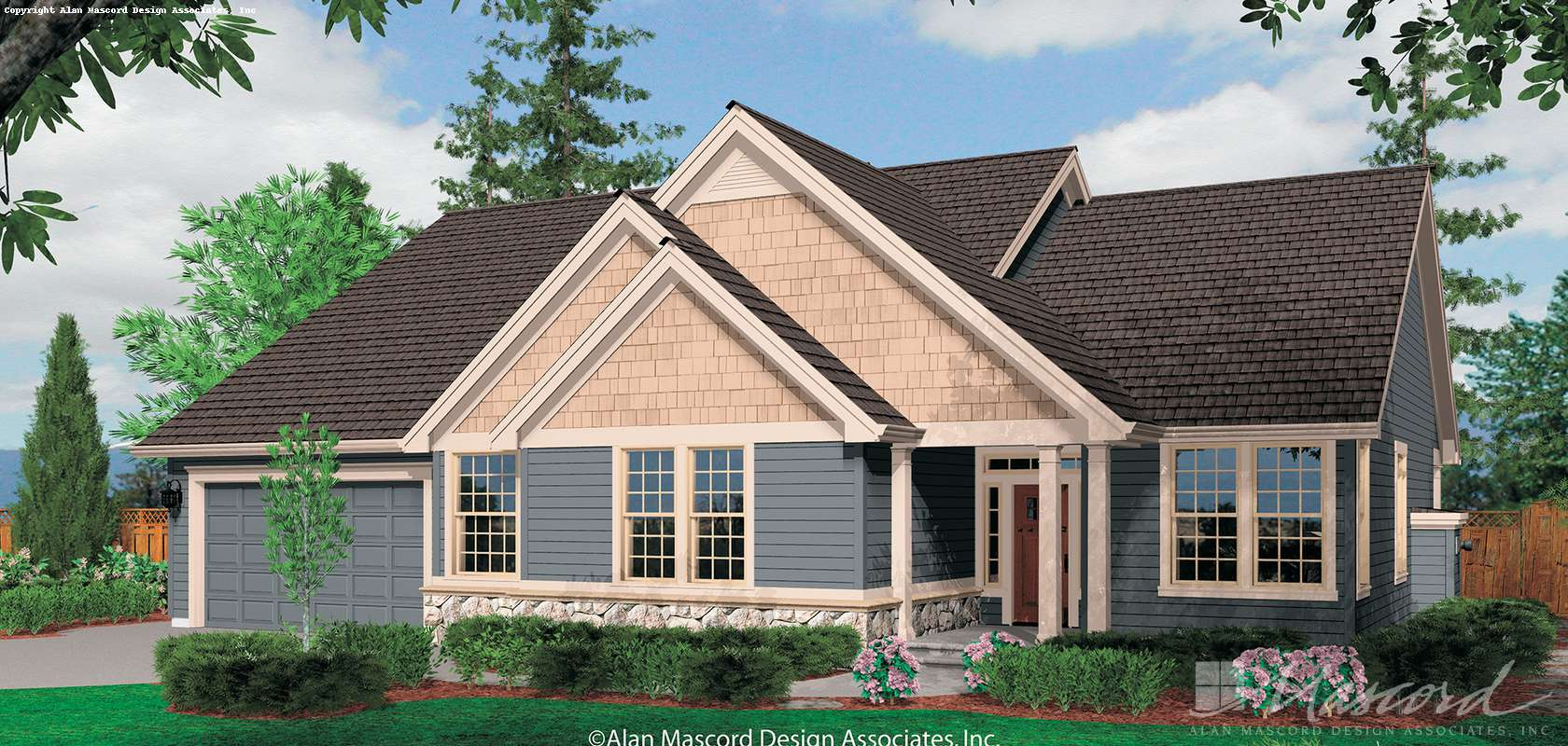 Mascord House Plan B1231F: The Saratoga