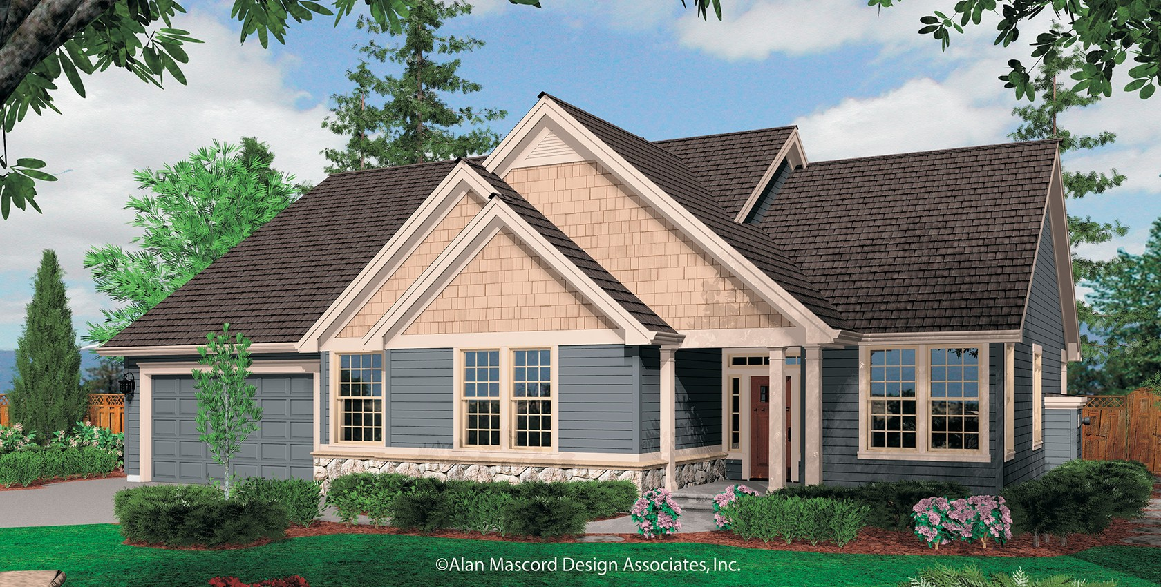 Mascord house plan 1231f the saratoga for Mascord house plans