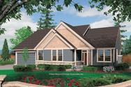 Front Rendering of Mascord House Plan 1231F - The Saratoga