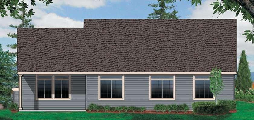 Mascord House Plan 1231F: The Saratoga