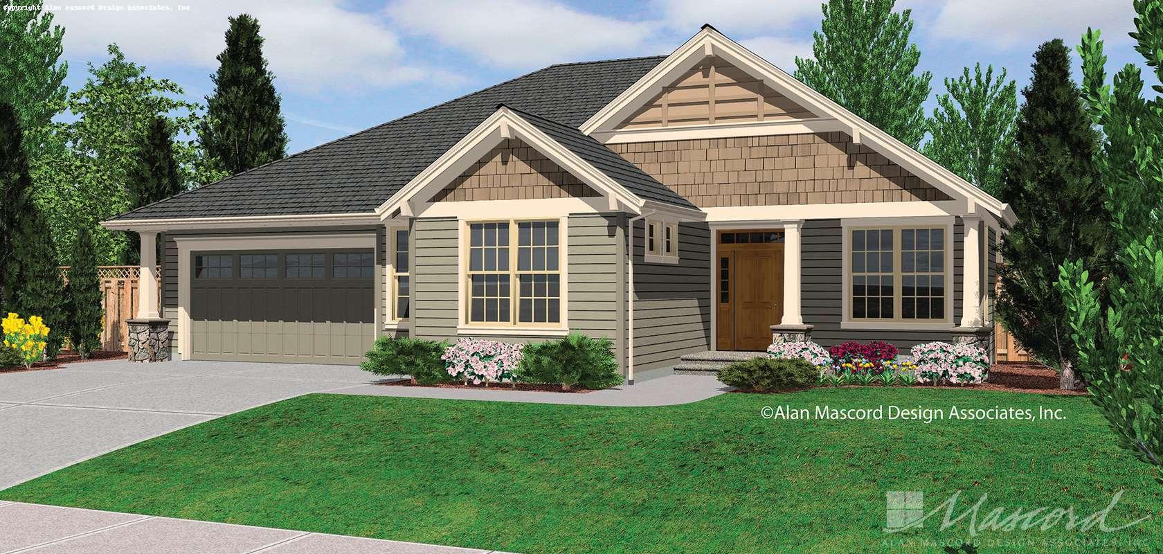 Mascord House Plan 1231FA: The Sutton