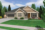Front Rendering of Mascord House Plan 1231FA - The Sutton