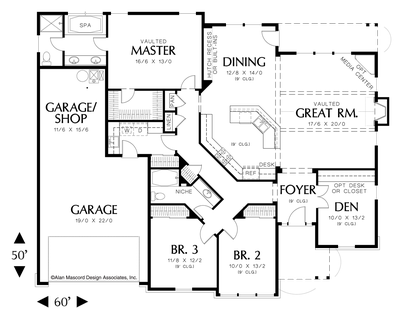 Image for Galen-Traditional Plan with Fireplace and Media Center-Main Floor Plan