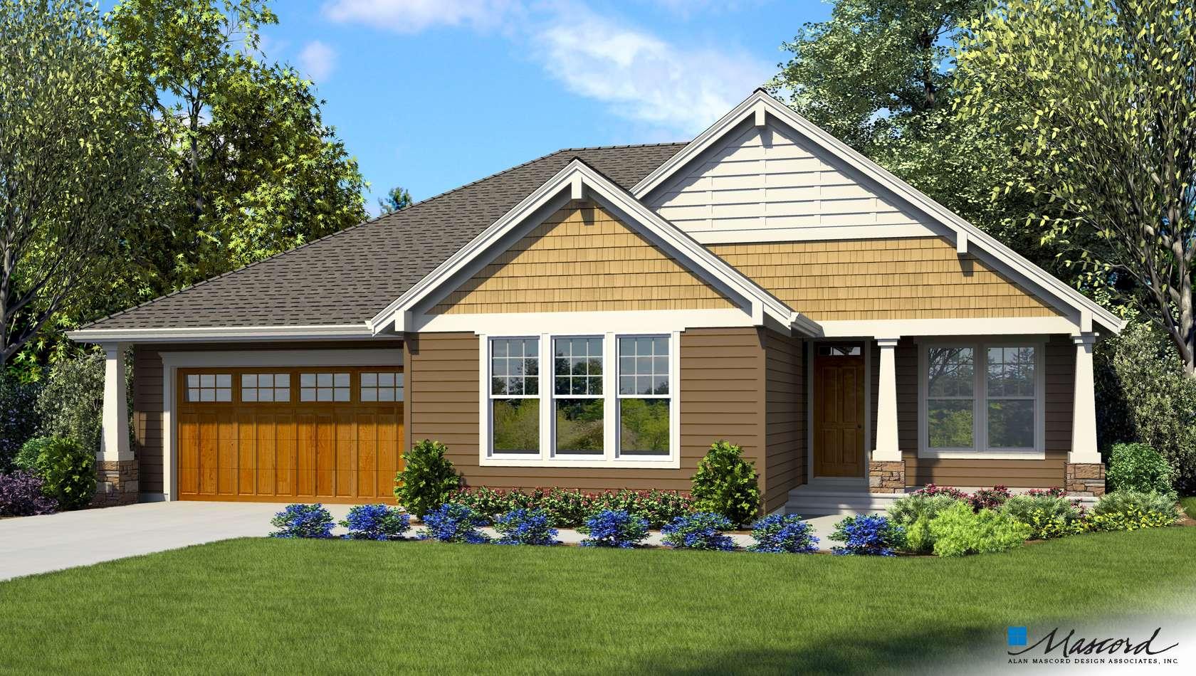 Mascord House Plan 1231Q: The Coopertown