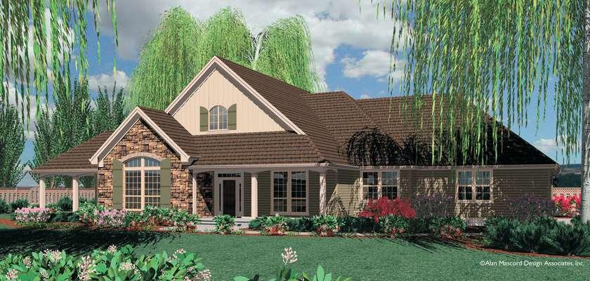 Mascord House Plan 1232: The Garrett