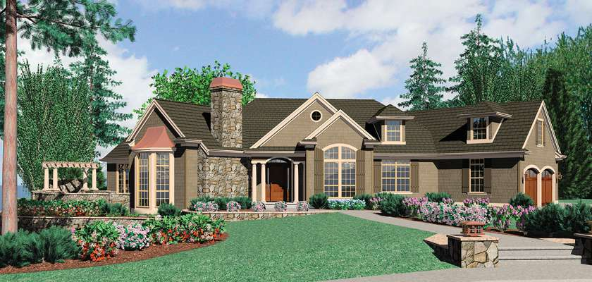 Mascord House Plan 1233: The Cainsville