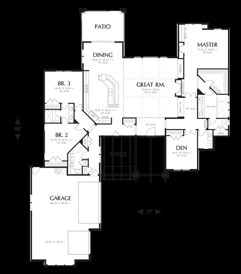 Mascord House Plan 1235 The Broderick