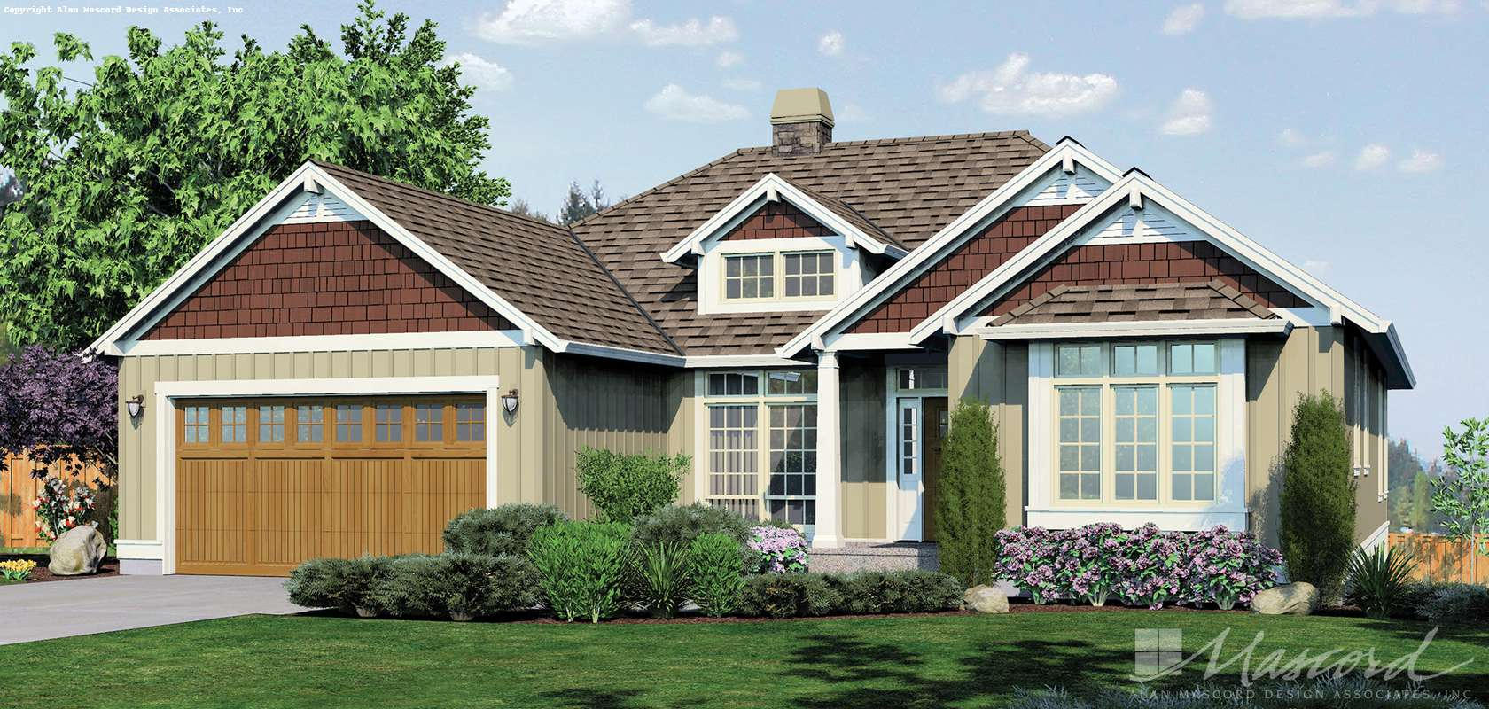 Mascord House Plan 1236: The Linden