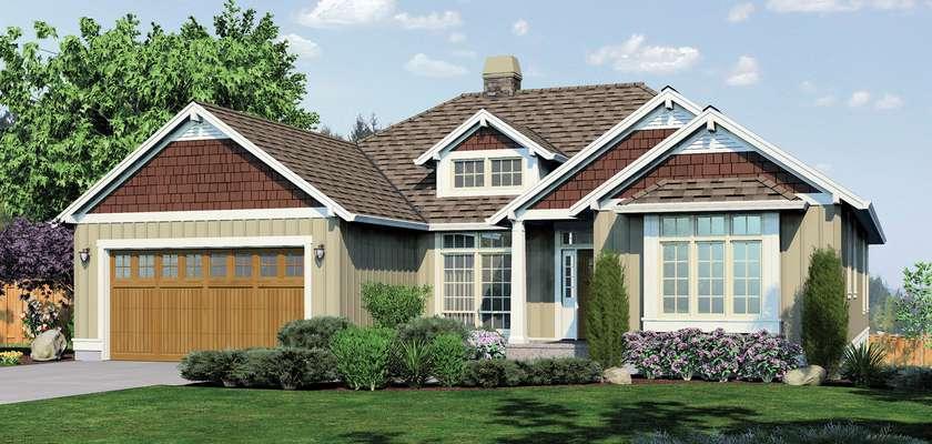 Mascord House Plan 1236: The Linden
