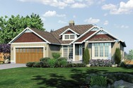 Front Rendering of Mascord House Plan 1236 - The Linden