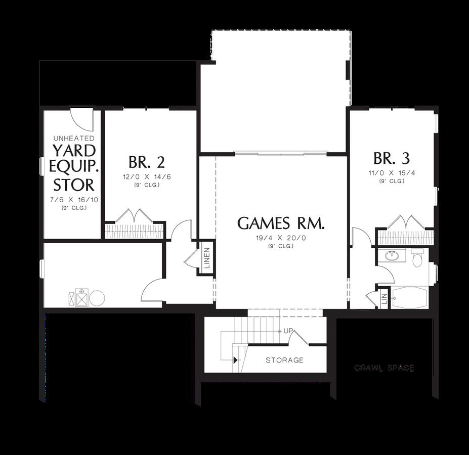 Image for Linden-Traditional Design, Contemporary Elegance-Lower Floor Plan