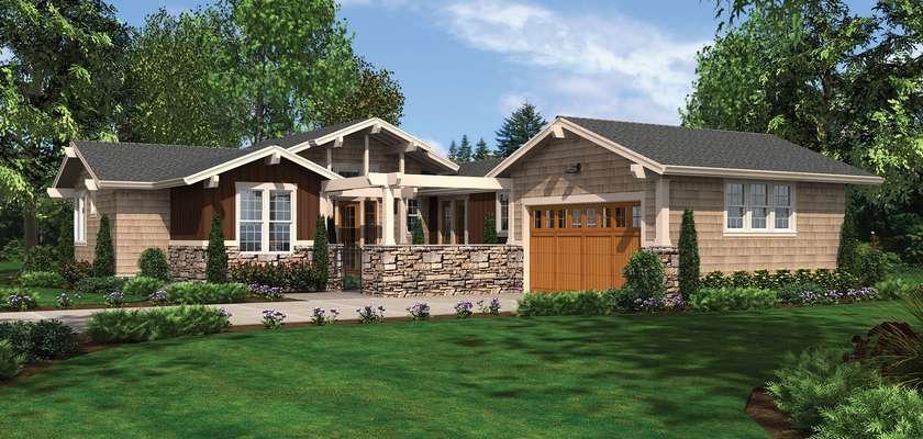 Mascord House Plan 1237: The Skylar
