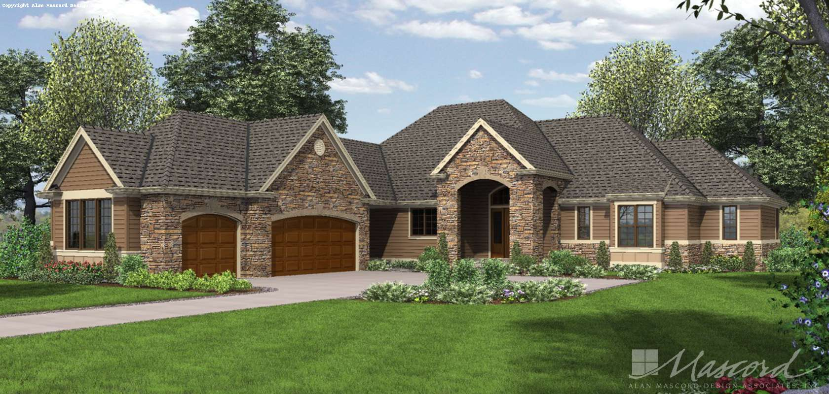 Mascord House Plan 1239: The Bridgeview