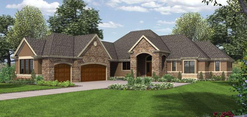 Mascord House Plan 1239: The Bridgeview