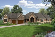 Front Rendering of Mascord House Plan B1239 - The Bridgeview