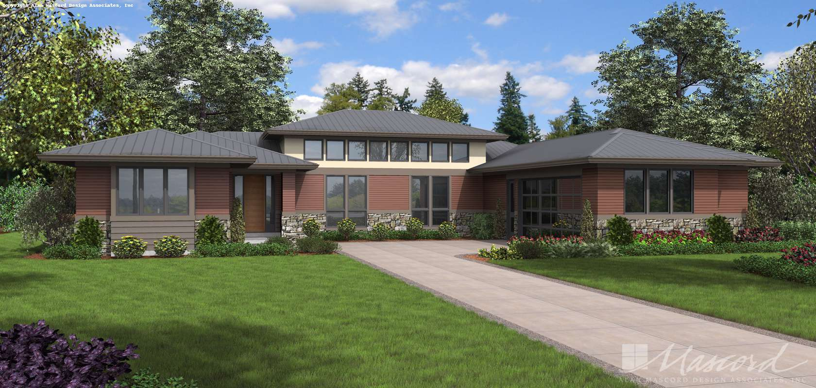 Mascord House Plan 1240B: The Mapleview