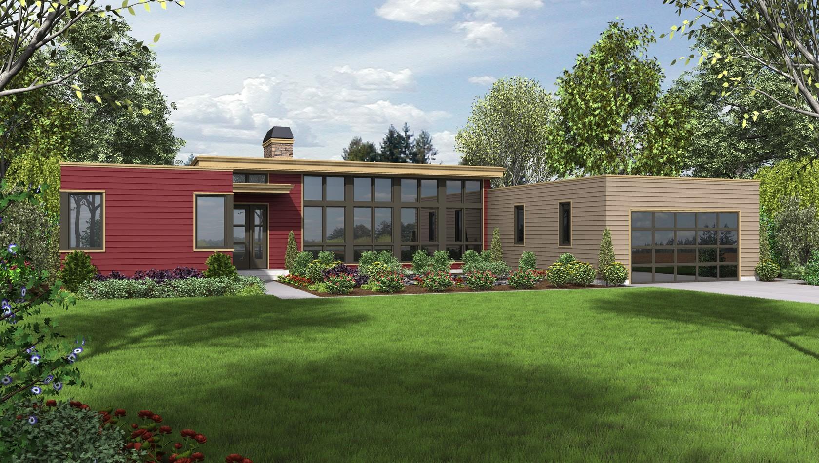 Mascord House Plan 1241: The Boston