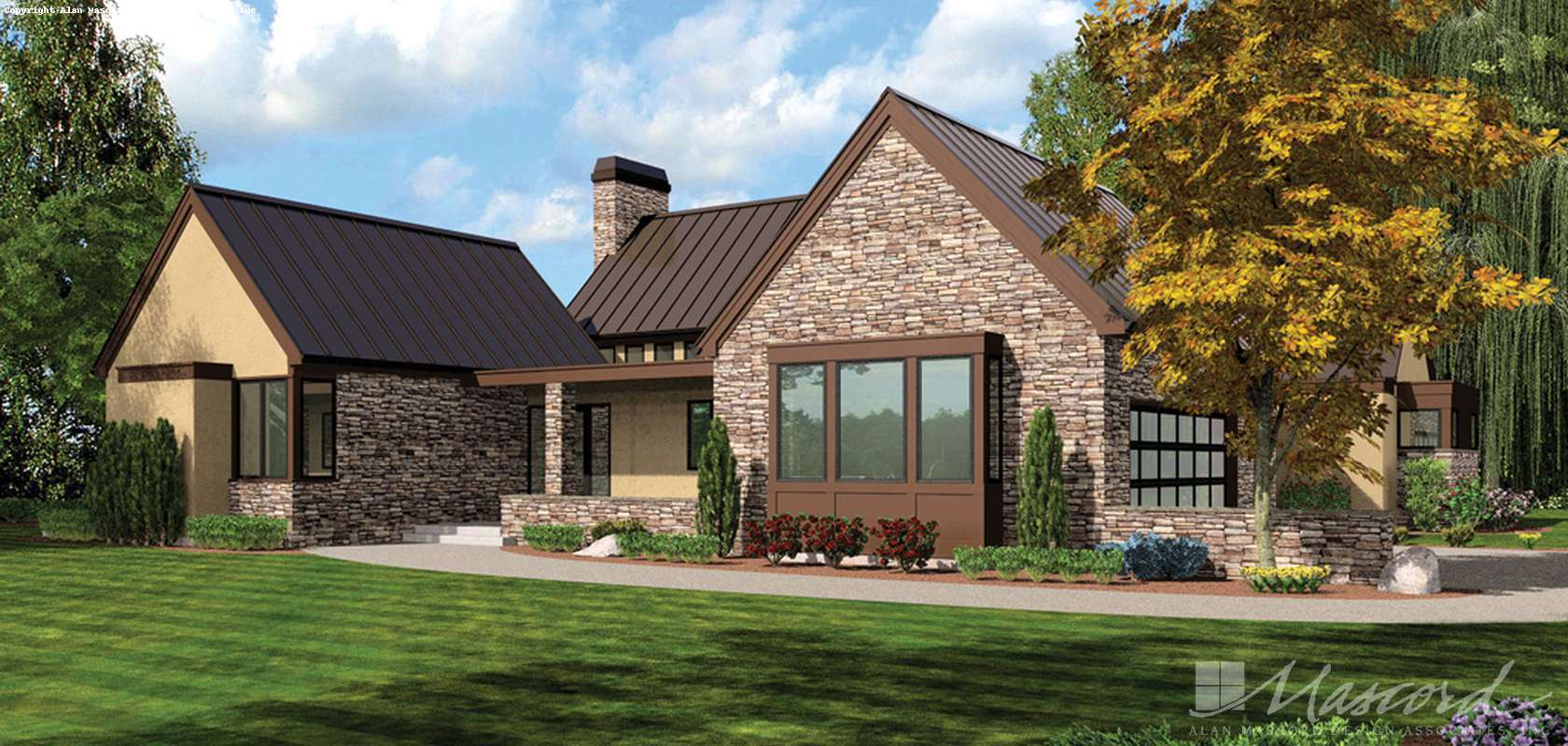 Mascord House Plan 1242: The Saxon